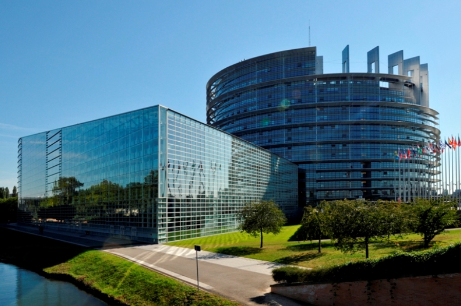 Main European Parliament Building in Strasbourg