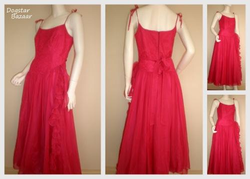 vintage red prom dress