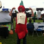 My mate Rich dressed up as a chilli