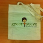 Green Steve bag for life