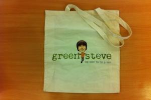Green Steve bag for life
