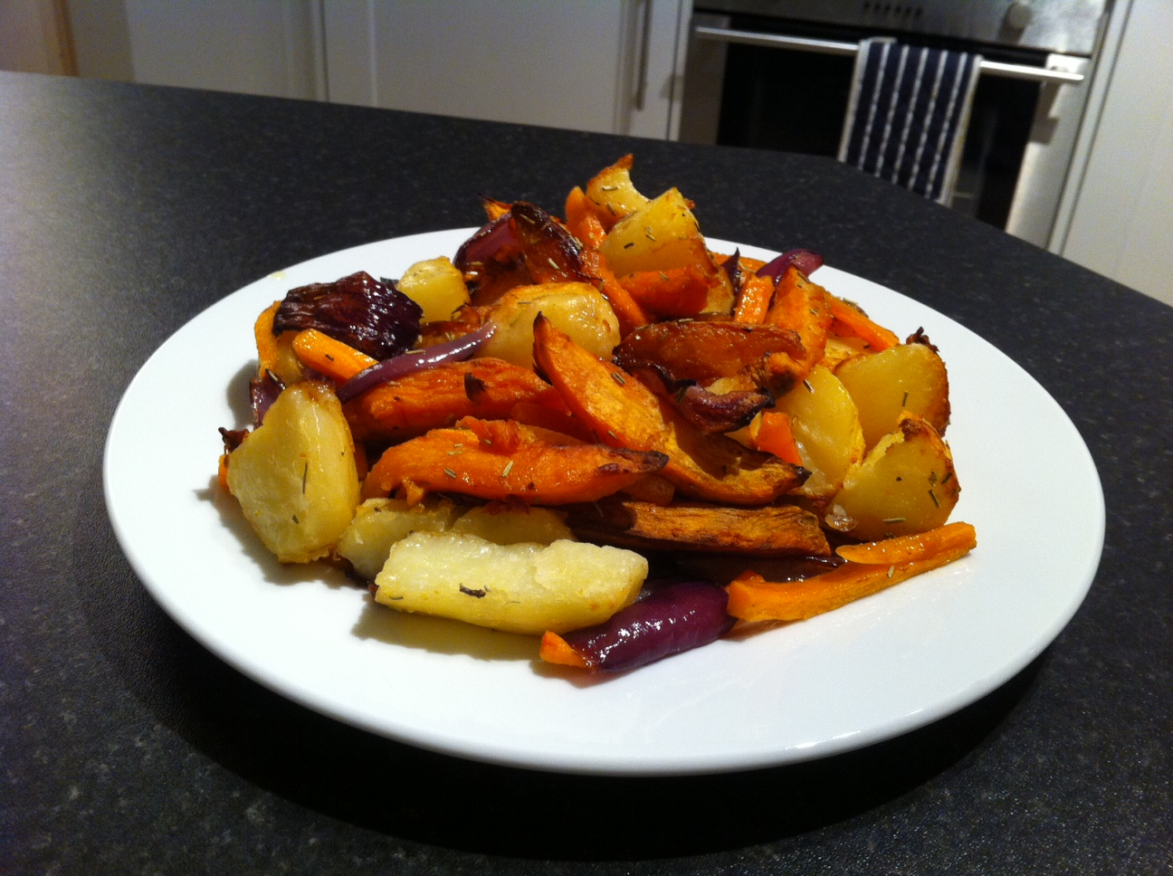 roasted vegetables view 2
