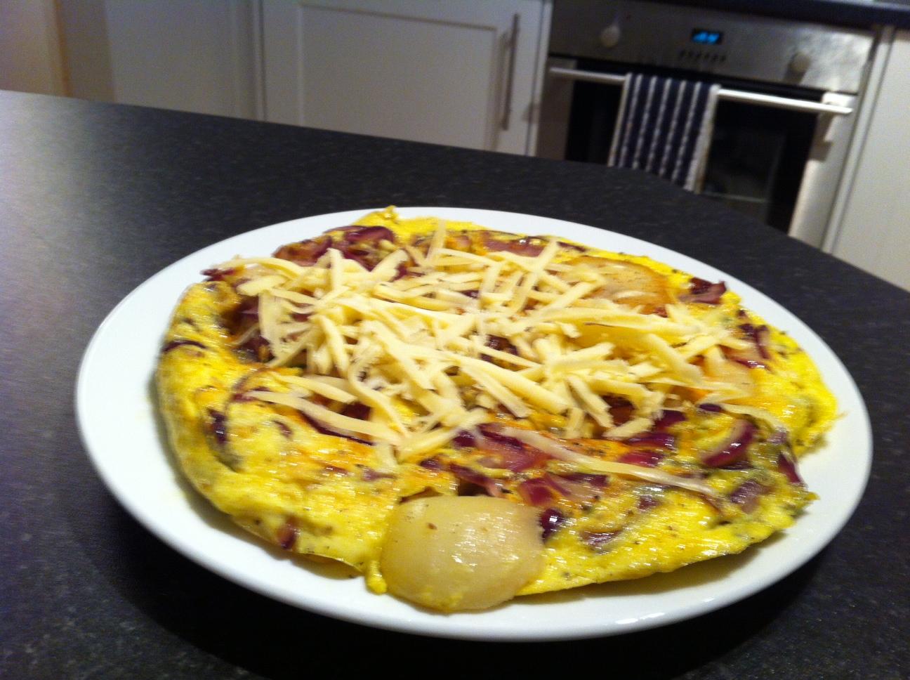 Spanish omelette view 2