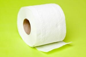 green toilet paper