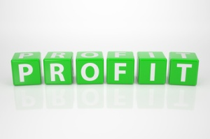 profit spelled out in green